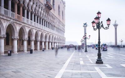 Registradores de nivel que monitorean los niveles de agua en Venecia
