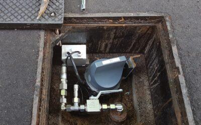 Surveillance du réseau de distribution de gaz par mesure de pression continue
