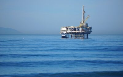 Oil prospecting below the seabed